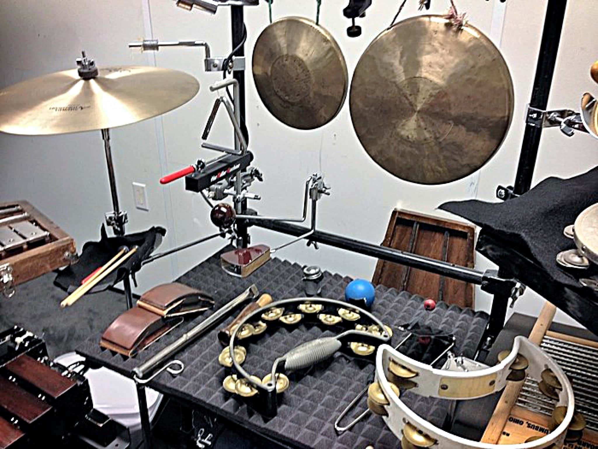 Brian Kilgore's percussion setup for the International Tour of Pippin at the Hollywood Pantages Theatre in Hollywood, California.