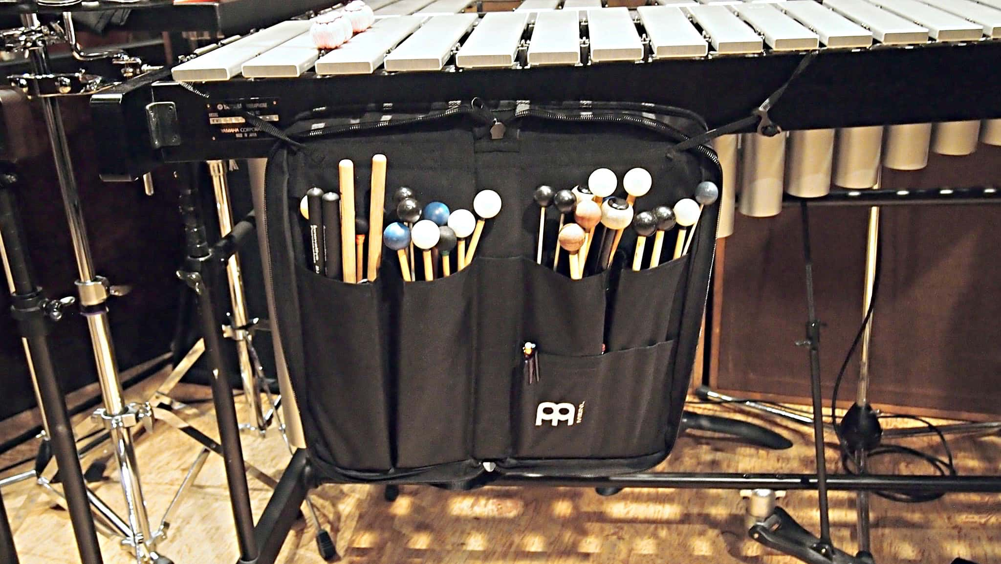 Bill Hayes' percussion setup for the recording session of NBC's Peter Pan Live at Avatar Studios, in New York City.