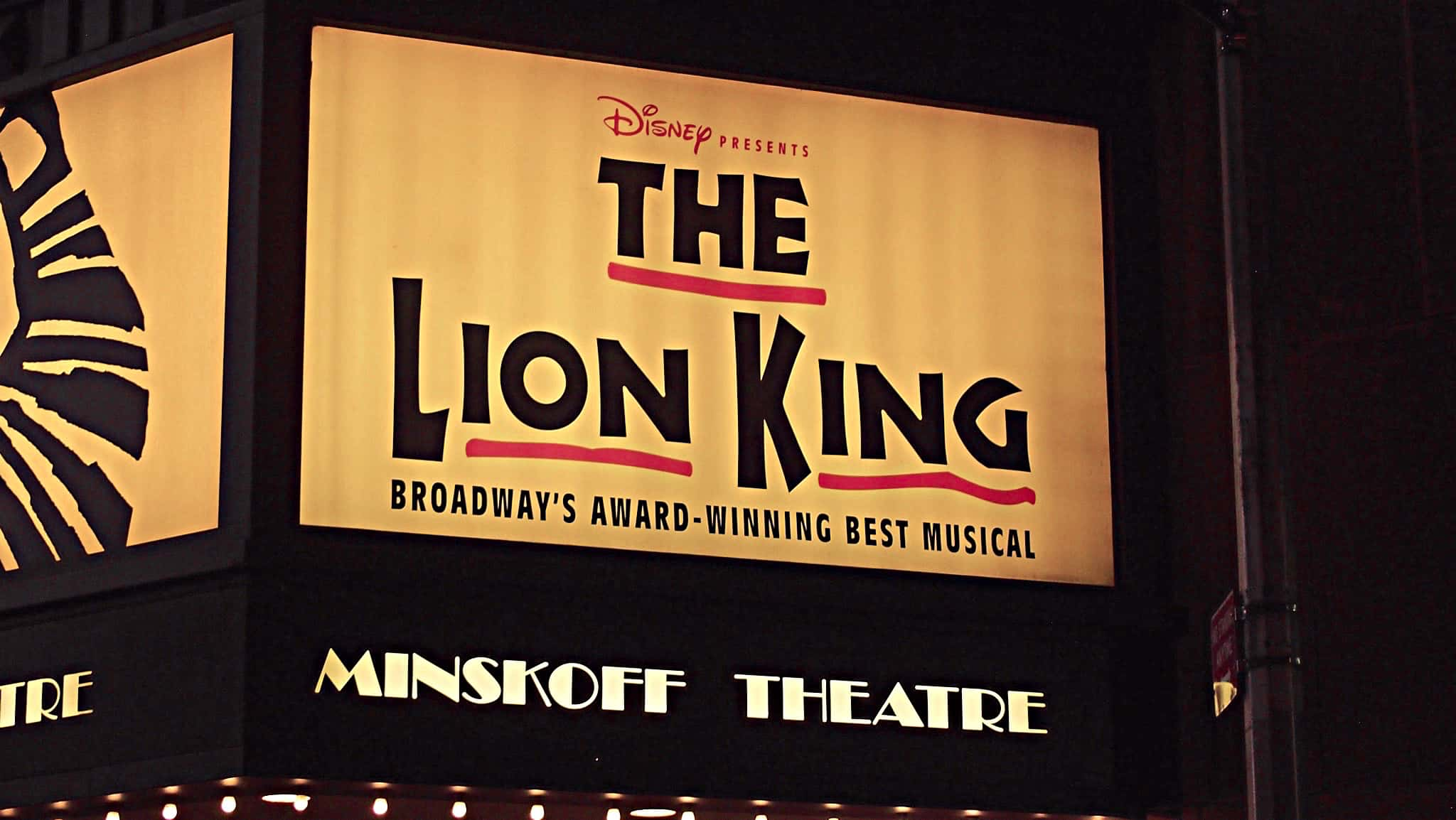 Carter McLean's drum set setup for the Broadway production of Lion King currently running at the Minskoff Theatre.