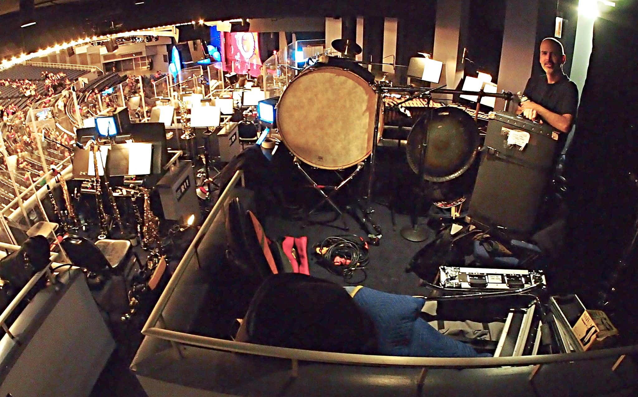 Dave Roth's percussion setup for the Madison Square Garden production of Dr Seuss' How the Grinch Stole Christmas.