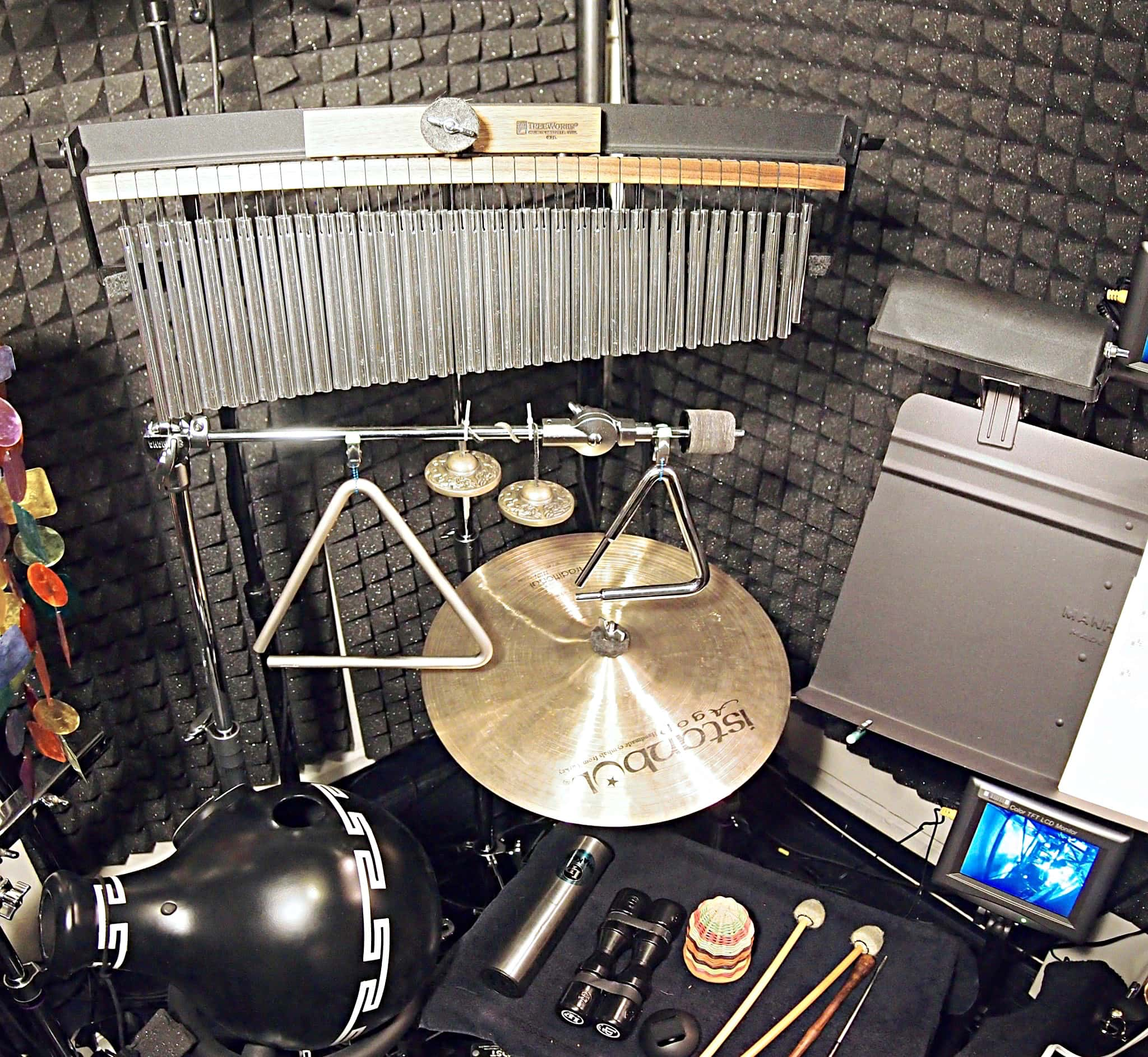 Trey Files' percussion setup for the Broadway production of Sting's The Last Ship at the Neil Simon Theatre.