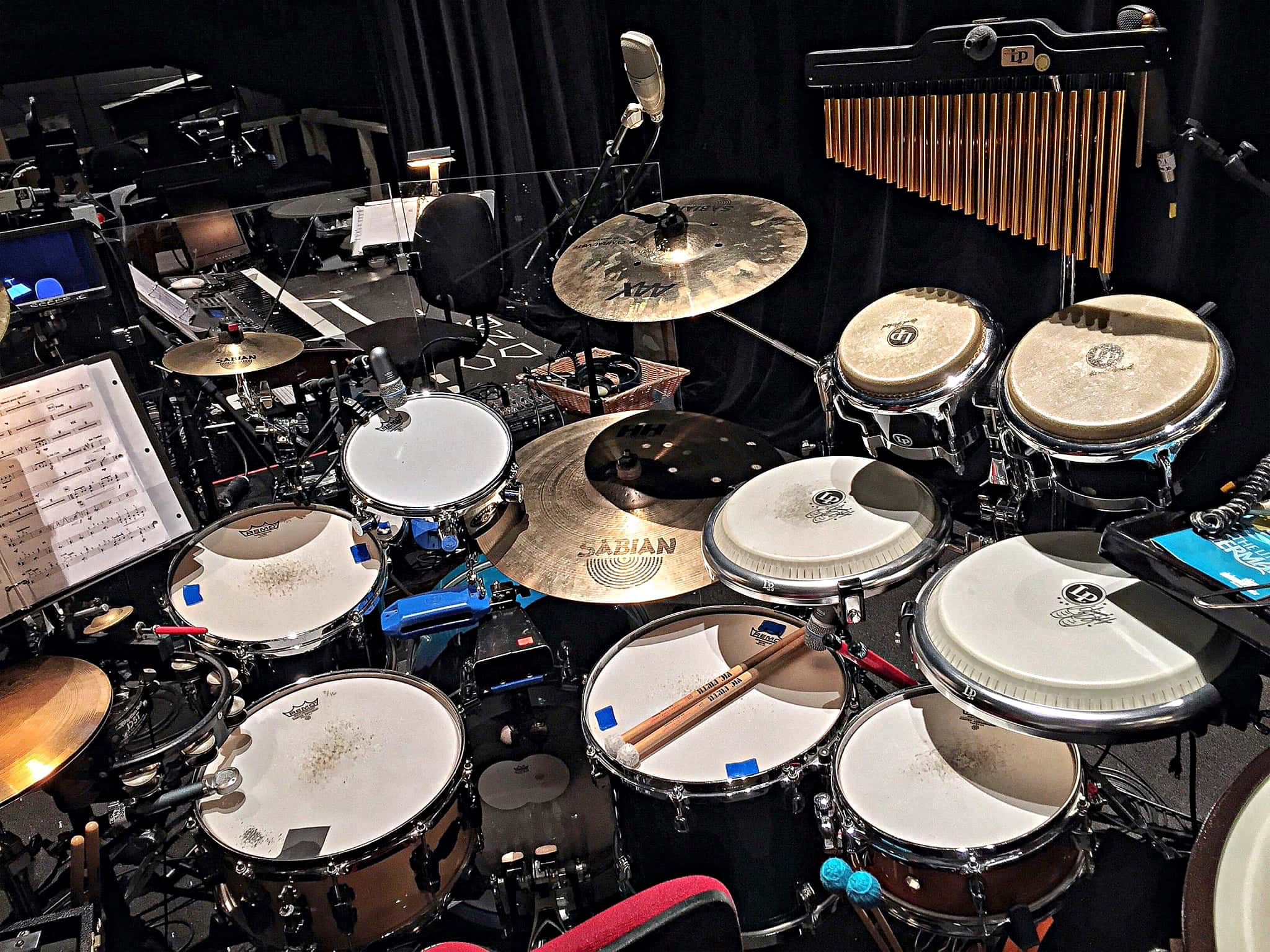 Ethan Deppe's setup for The Little Mermaid at the Chicago Shakespeare Theatre in Chicago, Illinois.