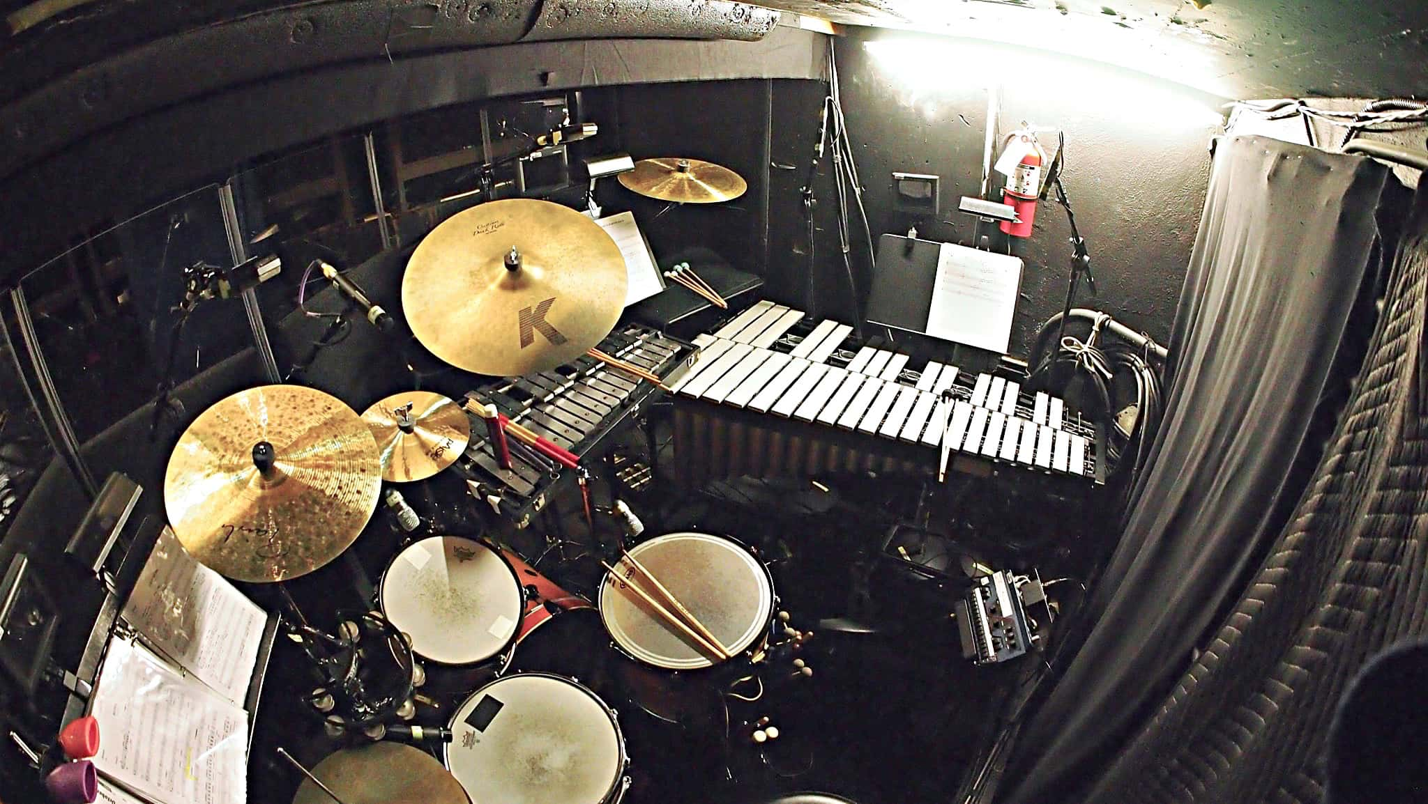 Jay Mack's setup for the National Tour of If/Then at the Paramount Theatre in Seattle, Washington.