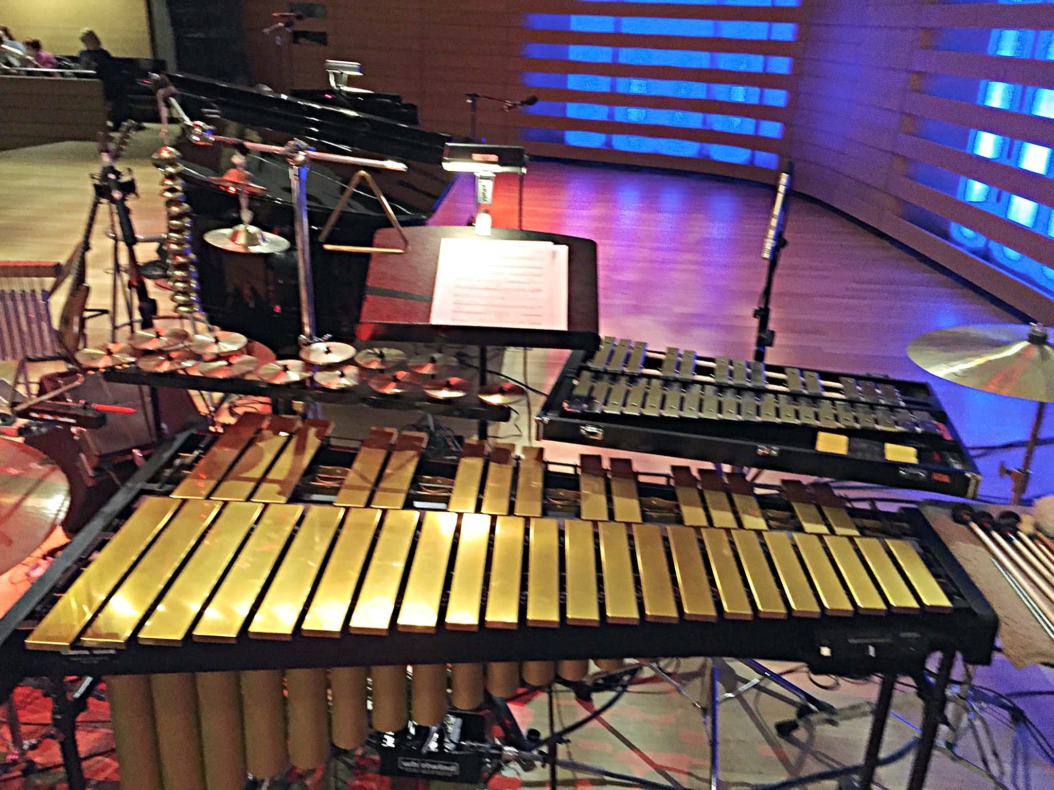 Jamie Drake's setup for Uncovered: The Music of Simon and Garfunkel as put on by Acting Up Stage Company in Toronto, Canada, at Koerner Hall.