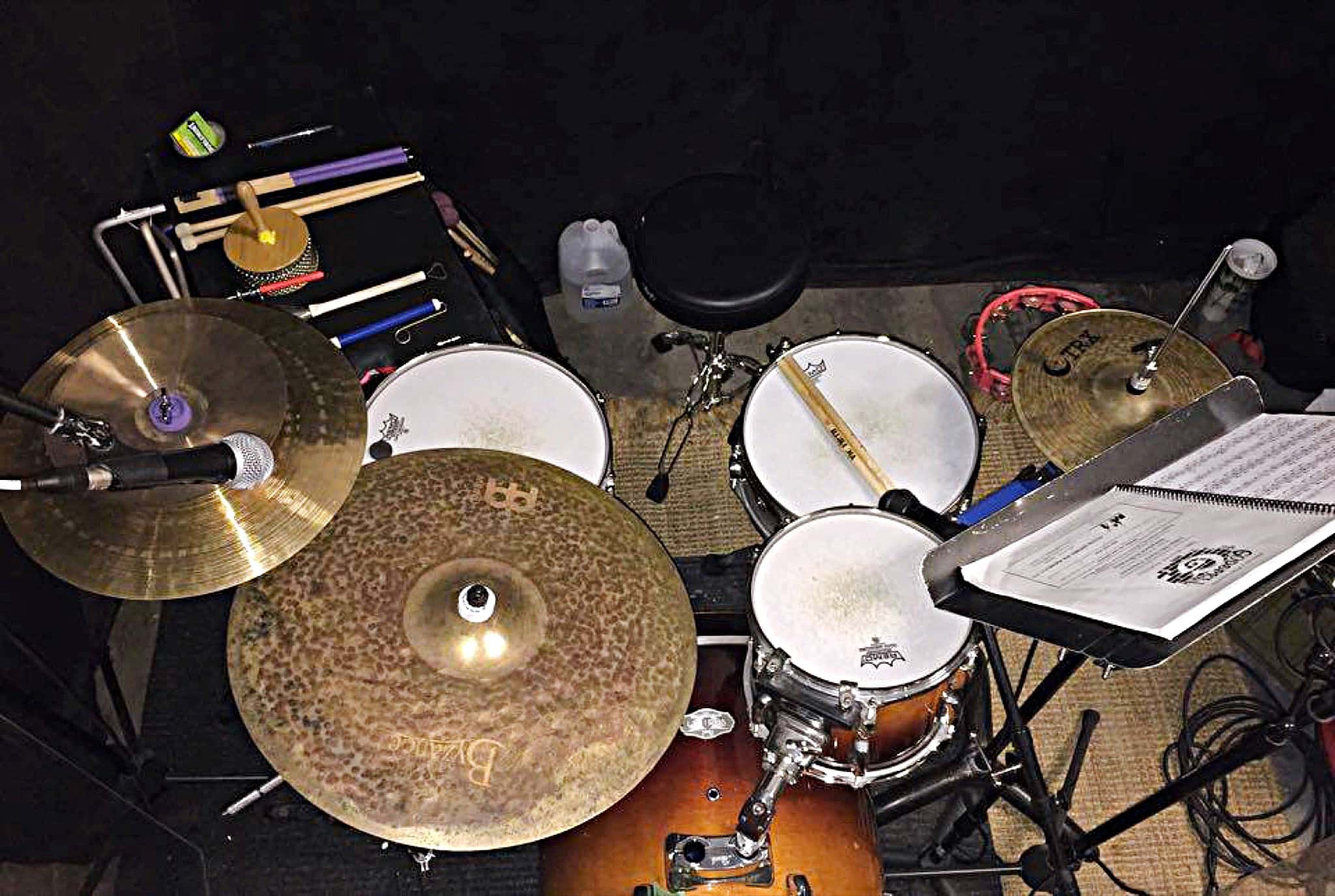 Greg Hersey's setup for Godspell at the Players by the Sea Theatre in Jacksonville Beach, Florida.