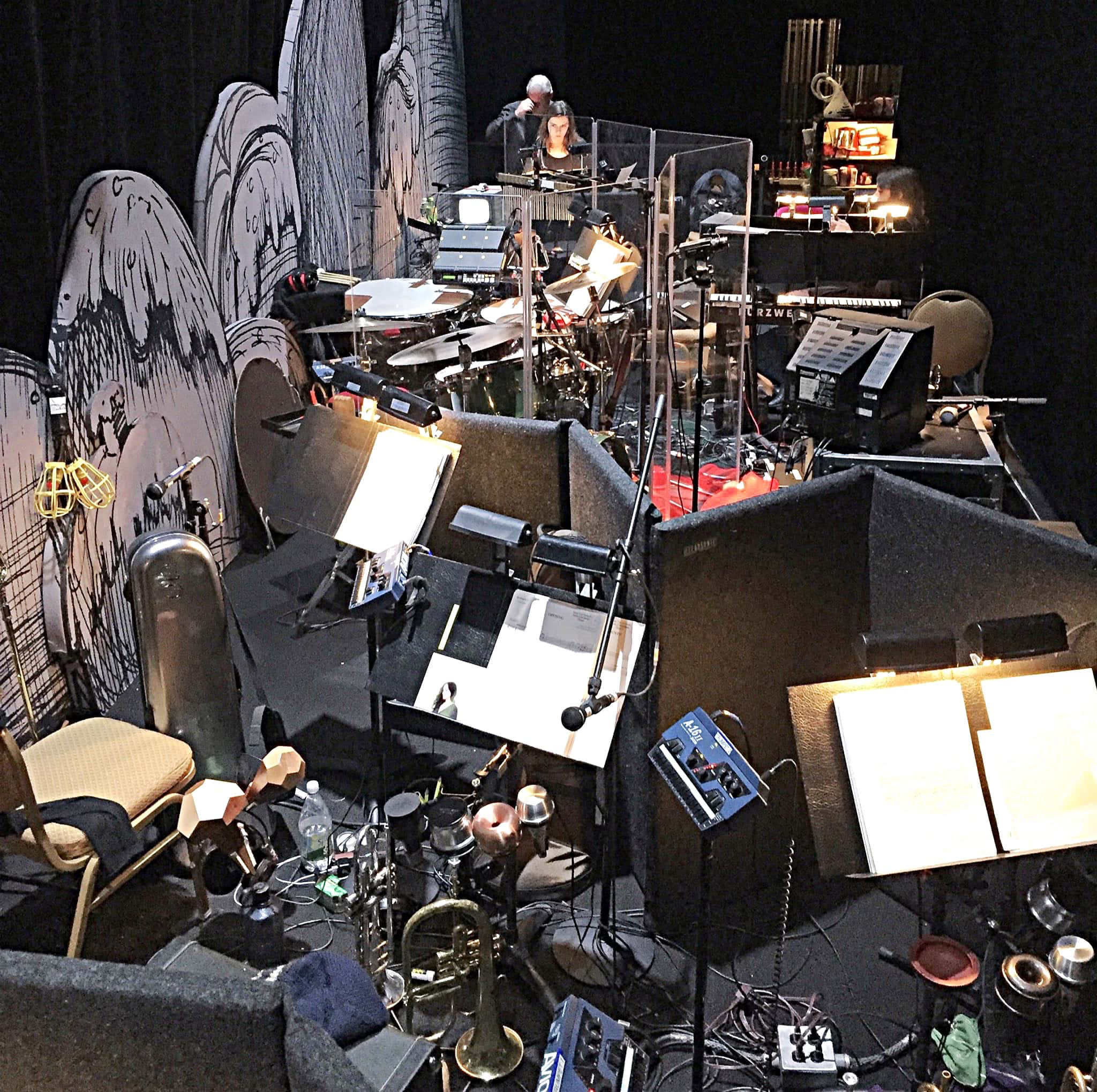 Russ Nyberg's combined book setup for Dr Seuss' How The Grinch Stole Christmas! at the Grand Ole Opry in Nashville, Tennessee.