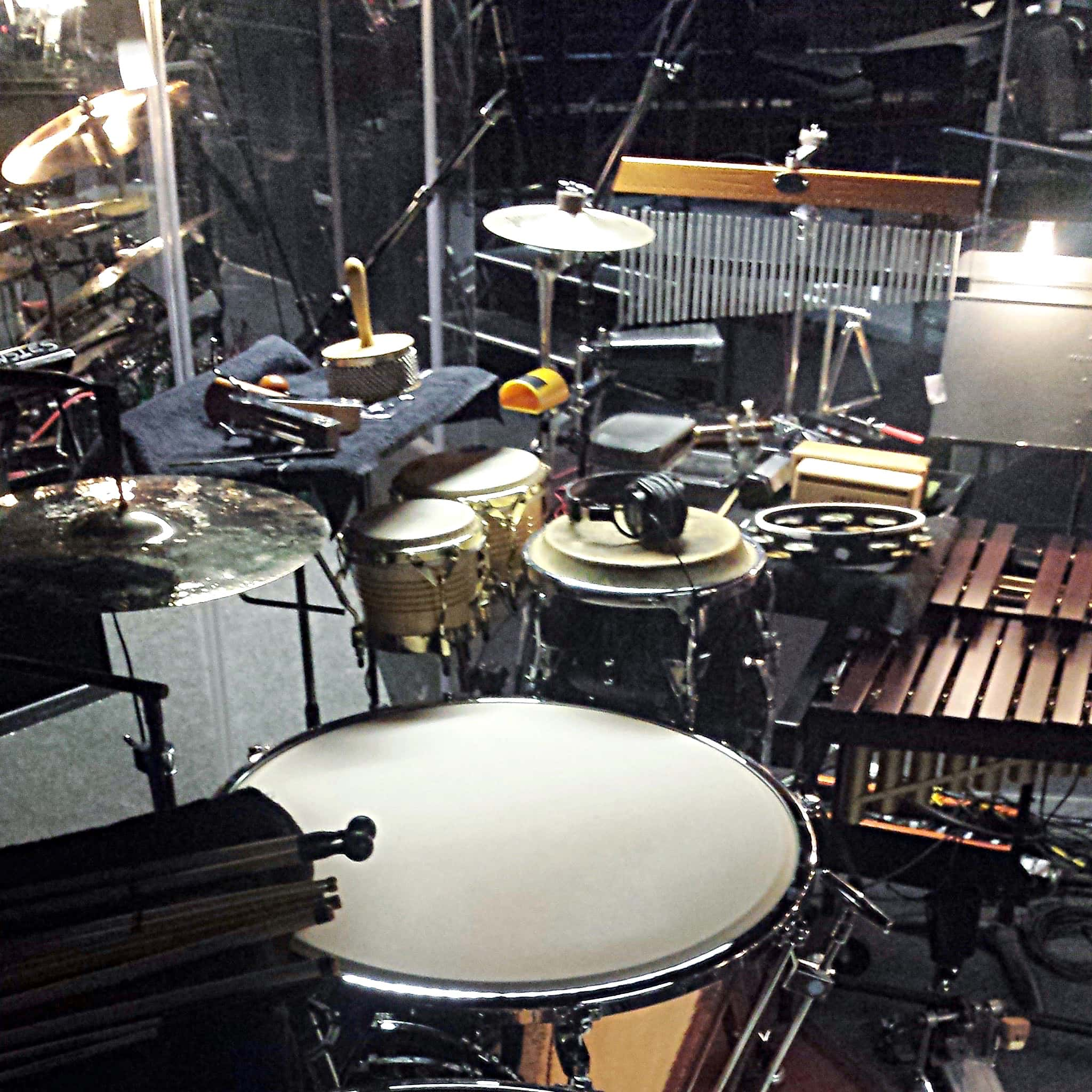 Scott Elford's percussion setup for Newsies at the Fox Cities Performing Arts Center in Appleton, Wisconsin.