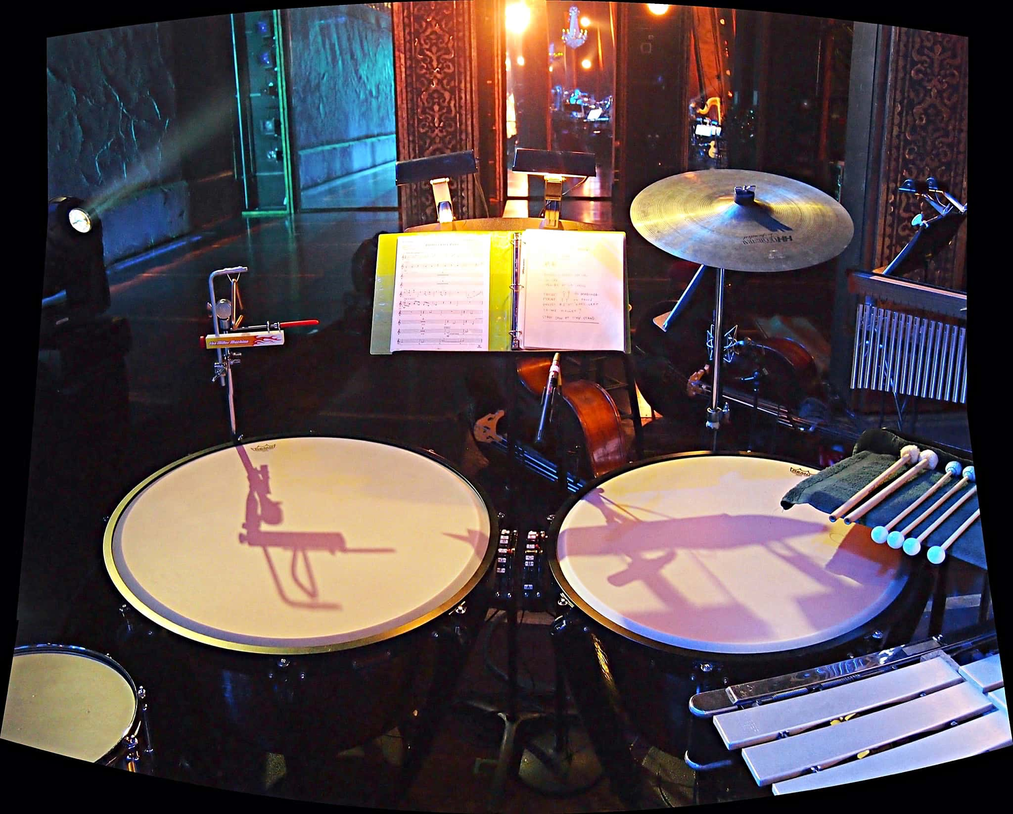 Billy Miller's setup for the Lincoln Center Benefit Concert of the Broadway show The Light In The Piazza.