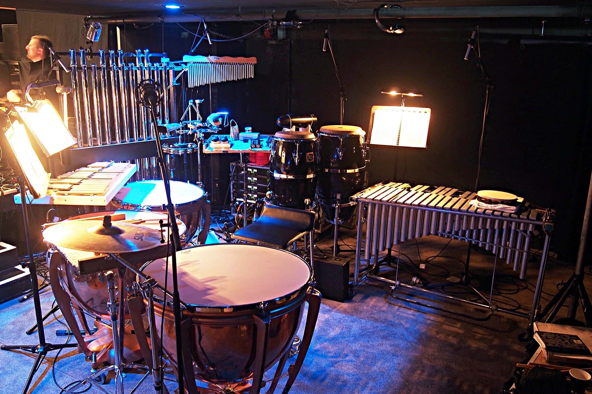 Craig Given's percussion setup for Hairspray at the Isaac Theatre Royal in Christchurch, New Zealand, for Showbiz Christchurch.