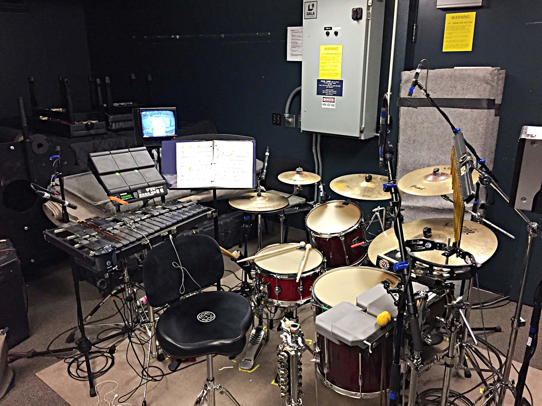 Jaren Angud's combined book setup for the International Tour of Disney's Beauty and the Beast.