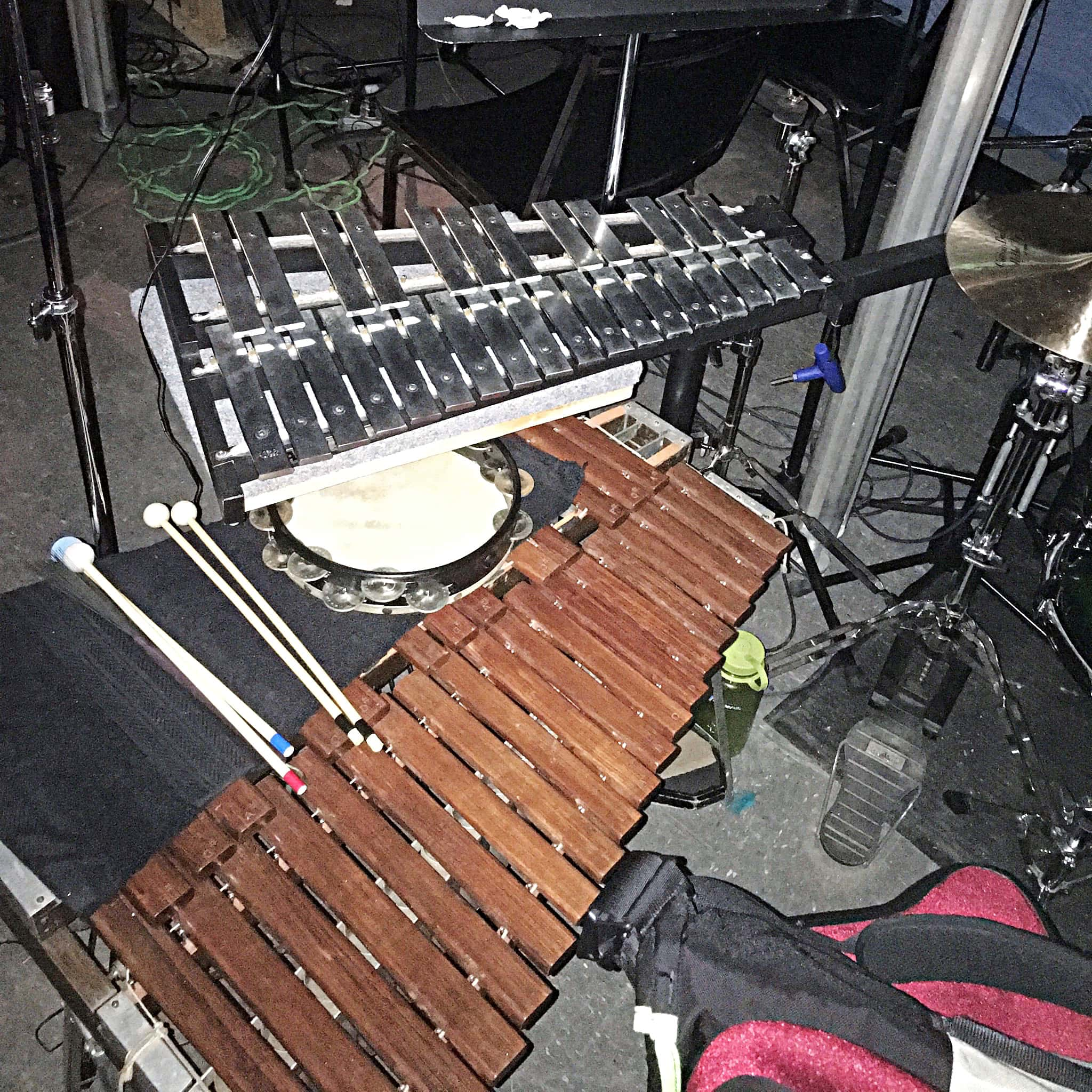 Chris Roberts' setup for Fiddler On The Roof at the Plymouth State University in Plymouth, New Hampshire.