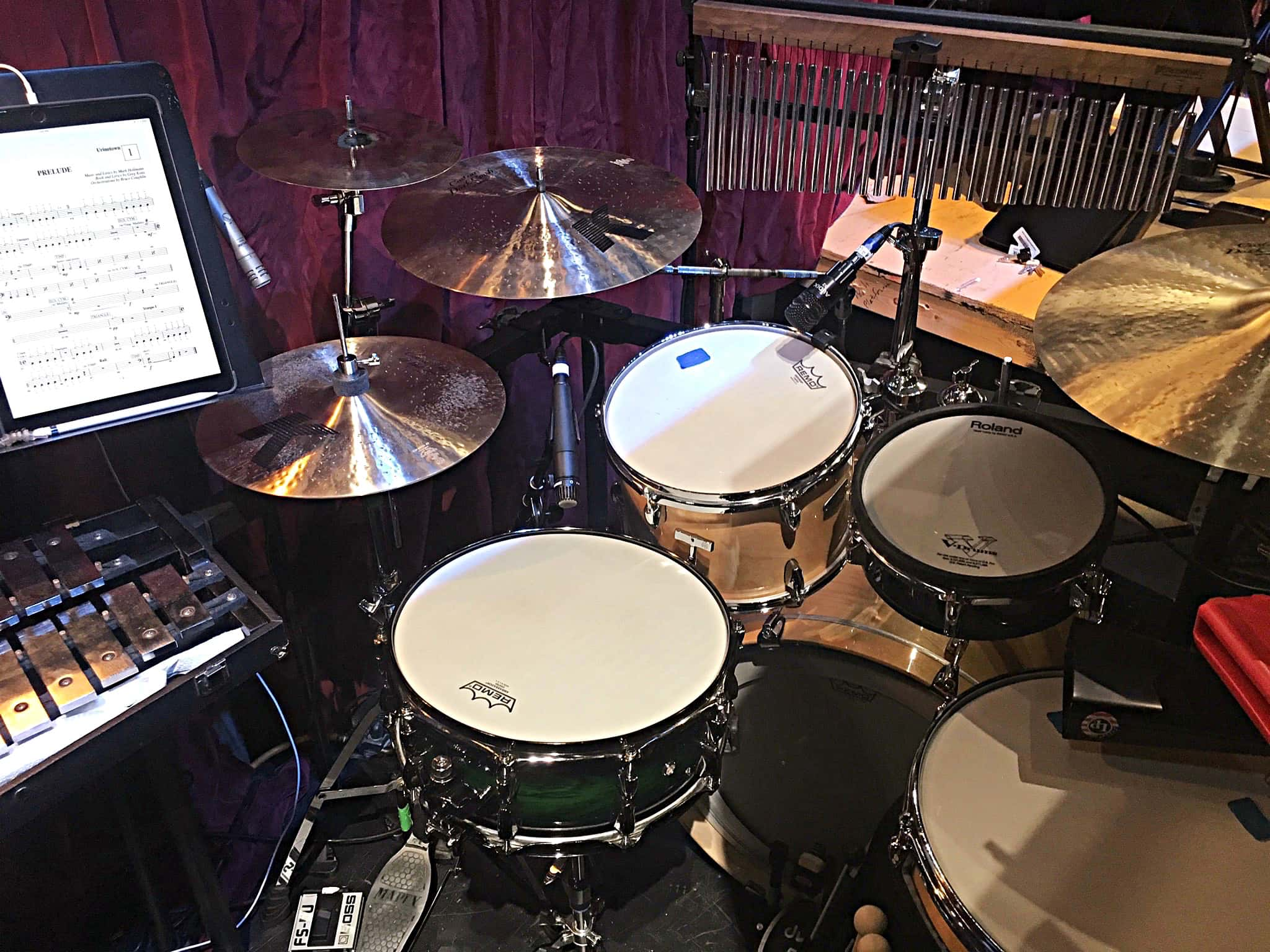 Christopher Roberts' setup for Urinetown at Dartmouth College in Hanover, New Hampshire.