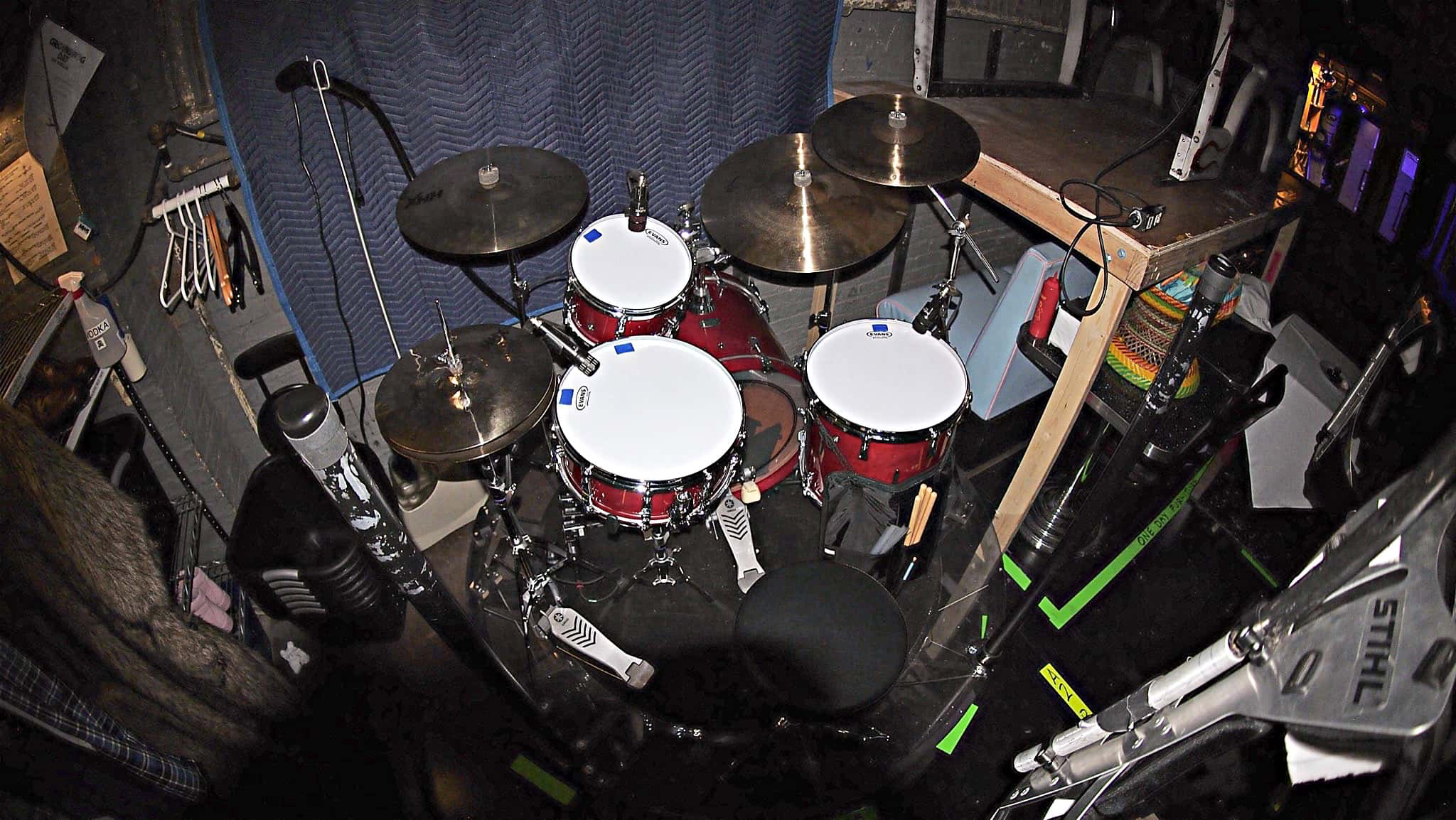 Howard Joines' setup for the Broadway production of Groundhog Day at the August Wilson Theatre.