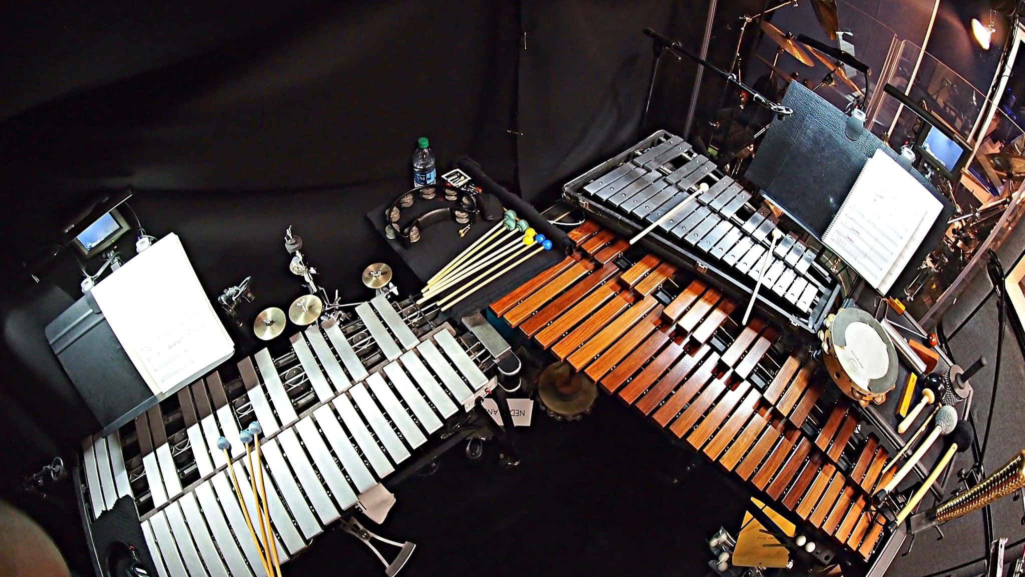 Dave Roth's percussion setup for the Broadway revival of Cats at the Neil Simon Theatre.
