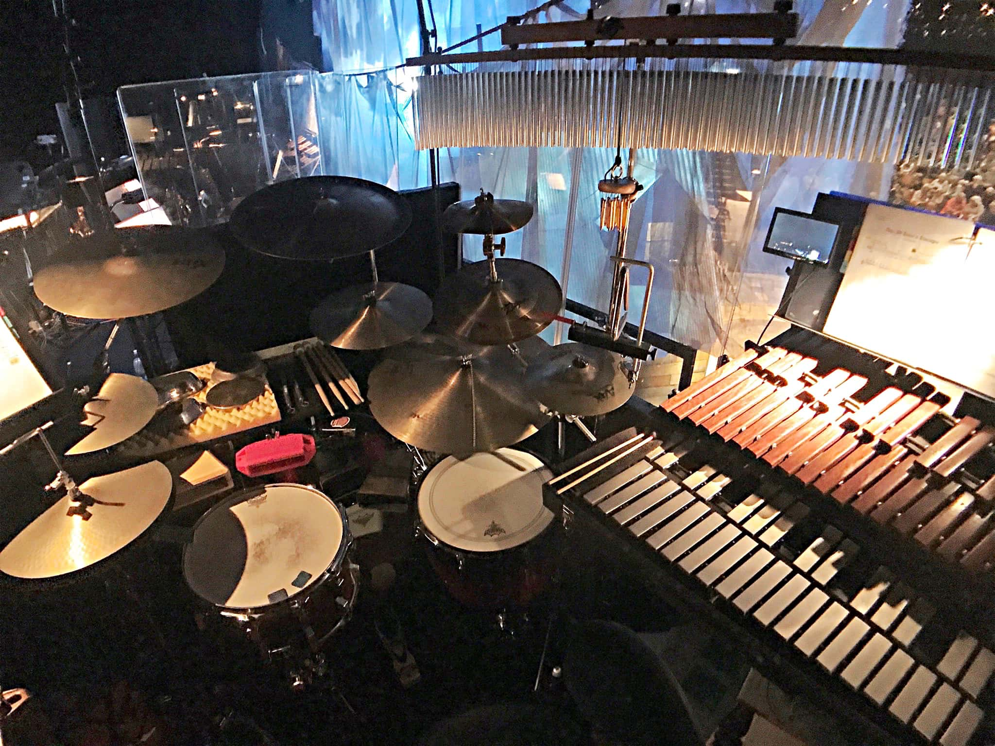George English's setup for The Wizard of Oz at the Crucible Theatre in Sheffield, South Yorkshire, England.