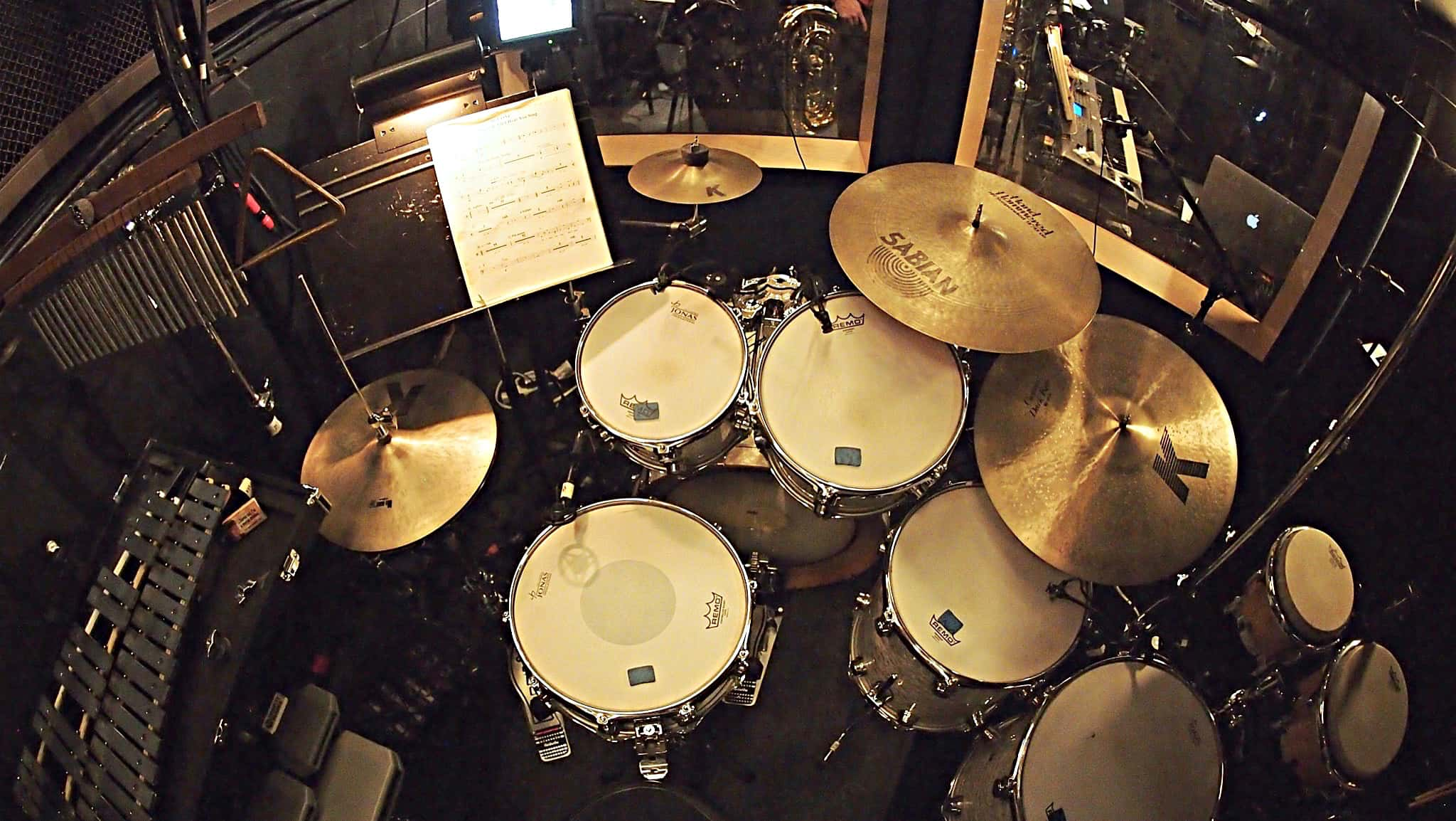 Aaron Nix's setup for the 2018 National Tour of Love Never Dies at the Paramount Theatre in Seattle, Washington.