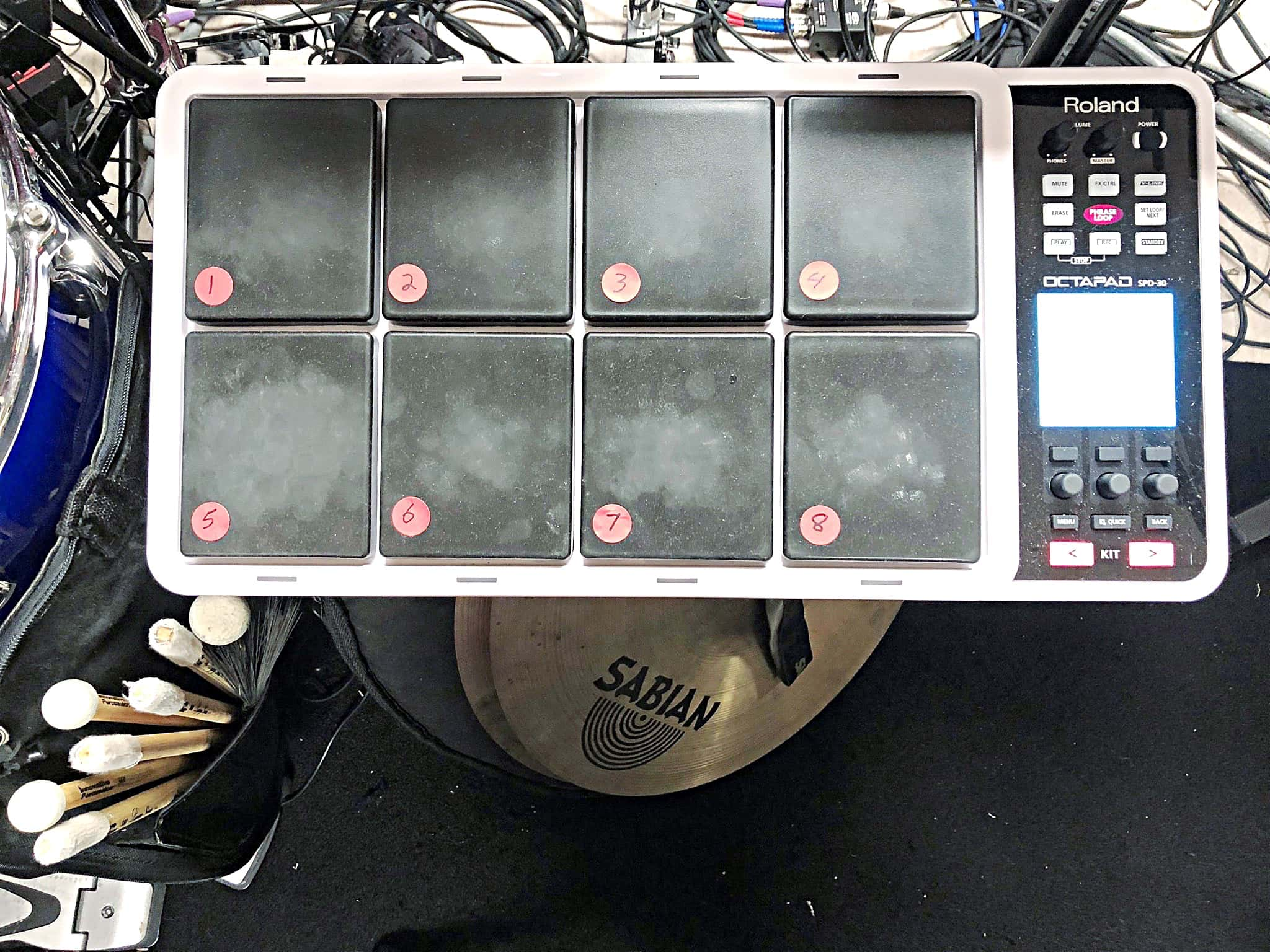 Russ Nyberg's combined book setup for the 2018-2019 National Tour of Miss Saigon at the Providence Performing Arts Center in Providence, Rhode Island.