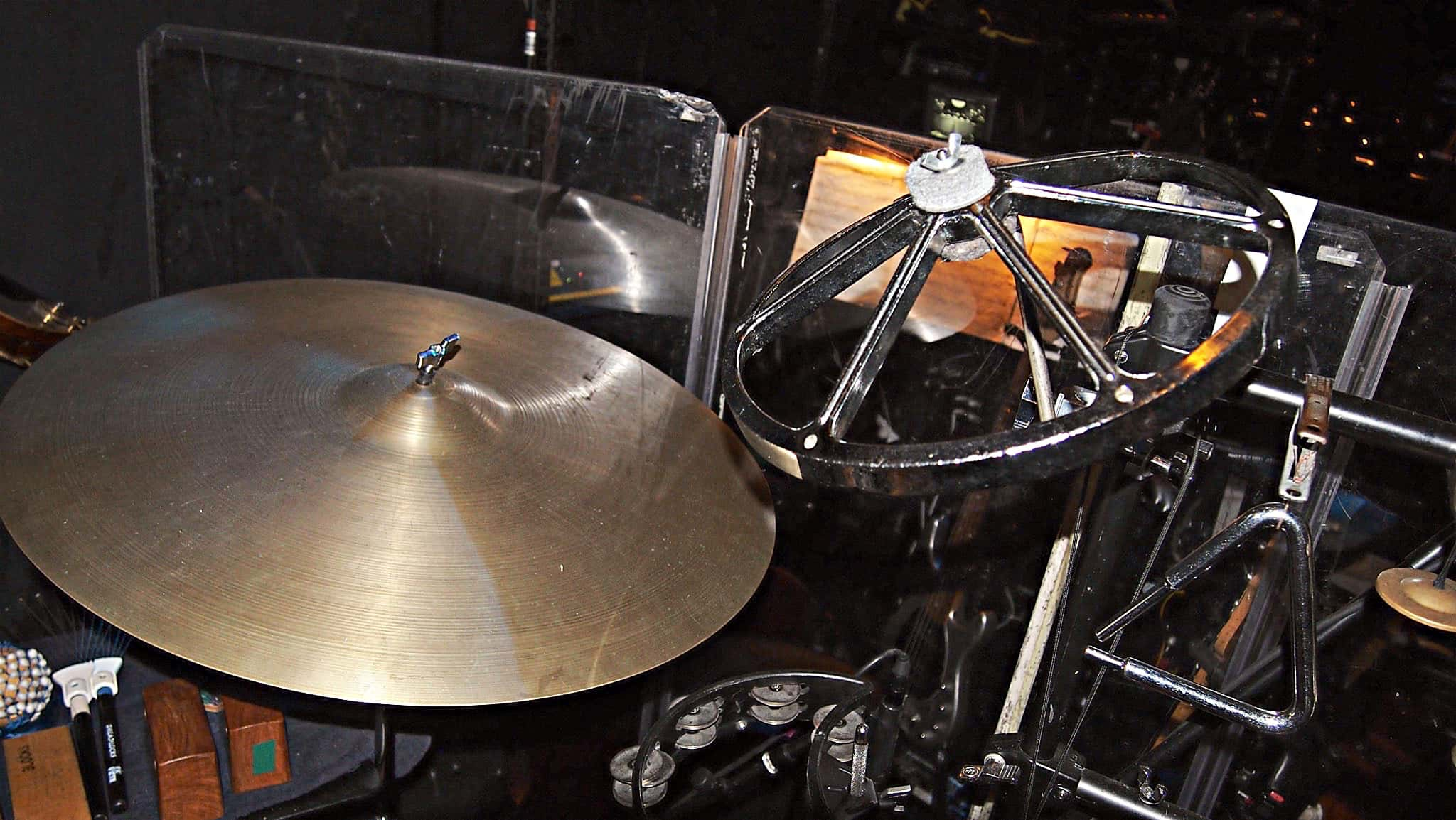 Paul Hansen's percussion setup for the National Tour of Wicked at the Paramount Theater in Seattle, Washington.