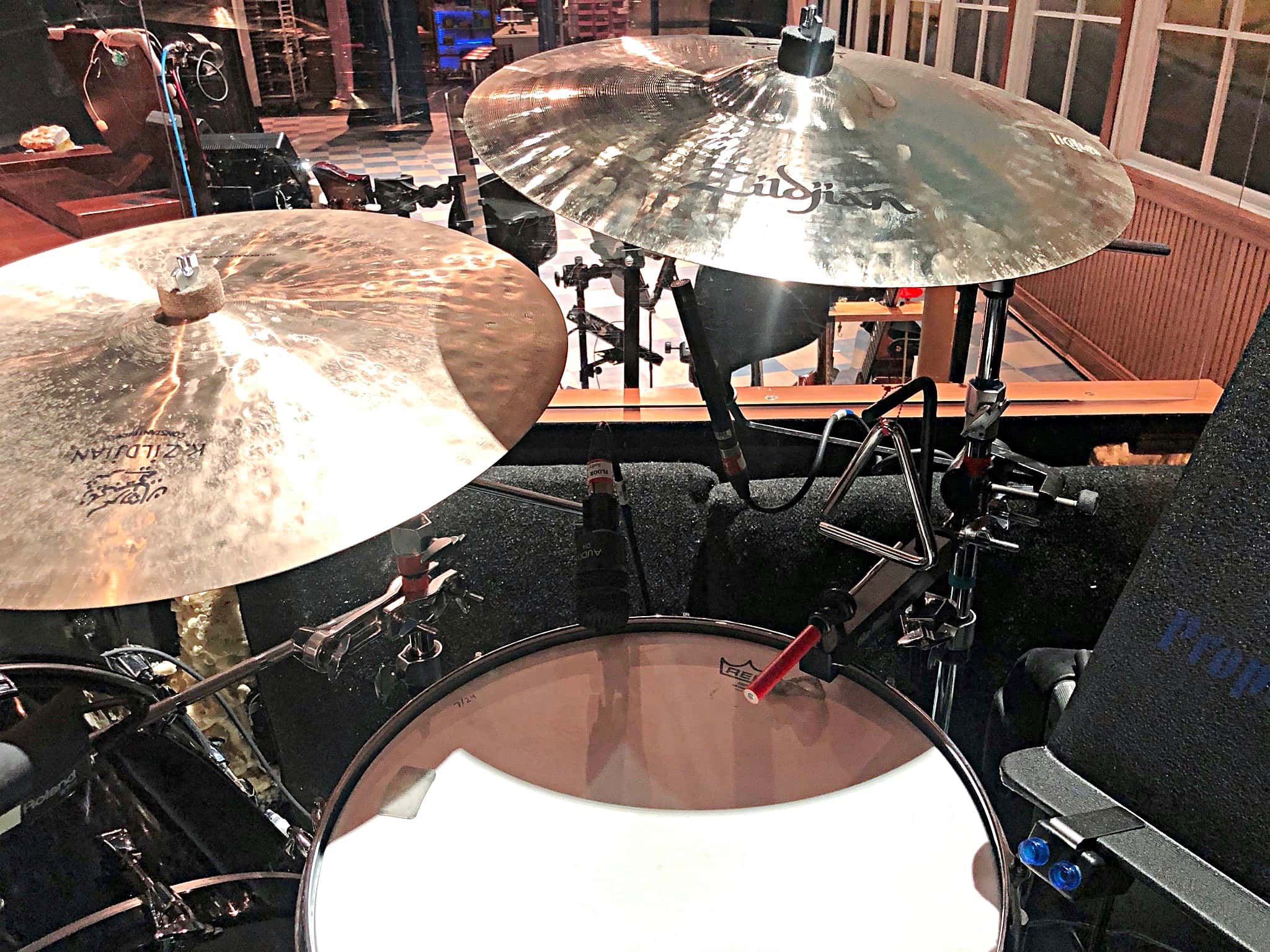 Noah Hadland's setup for the 2nd National Tour of Waitress at the Southern Alberta Jubilee Auditorium in Calgary, Alberta, Canada.