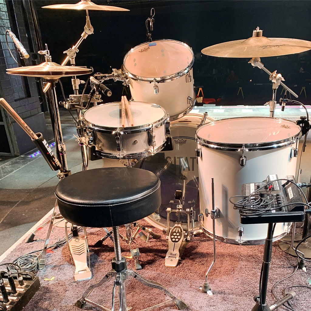 Photo of Clayton Craddock's setup for the Broadway production of Ain't Too Proud.