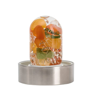 Happiness Gempod (carnelian - orange calcite - jade / nephrite - clear quartz)