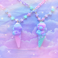 Melty Dream Ice Cream Cone Necklace