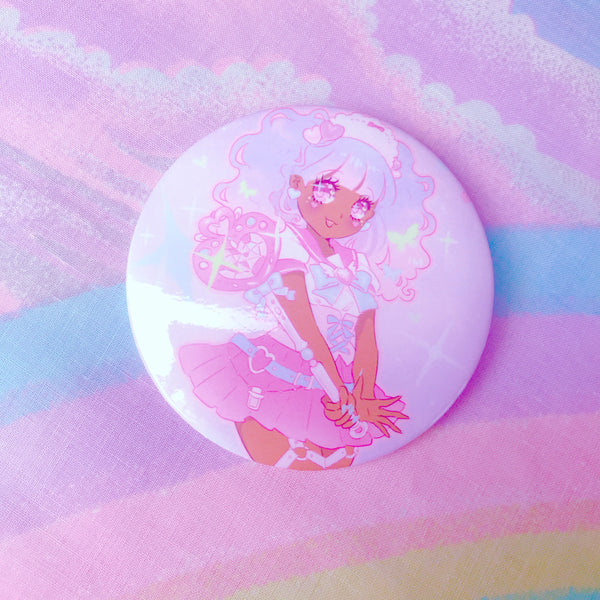 Magic Girl Magenta Badge