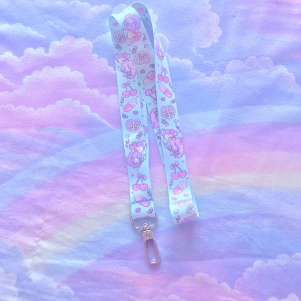Parfum and Lavender Lanyard - Mint Green