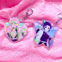 (Last Ones) Mitsuri & Shinobu Double-Sided Holographic Keychains