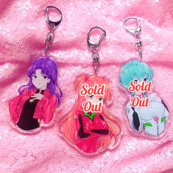 (1 LEFT!) Eva Girls Double-Sided Keychains