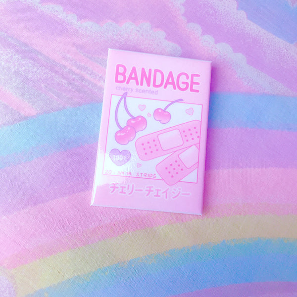 (1 LEFT) Cherry Bandage Badge