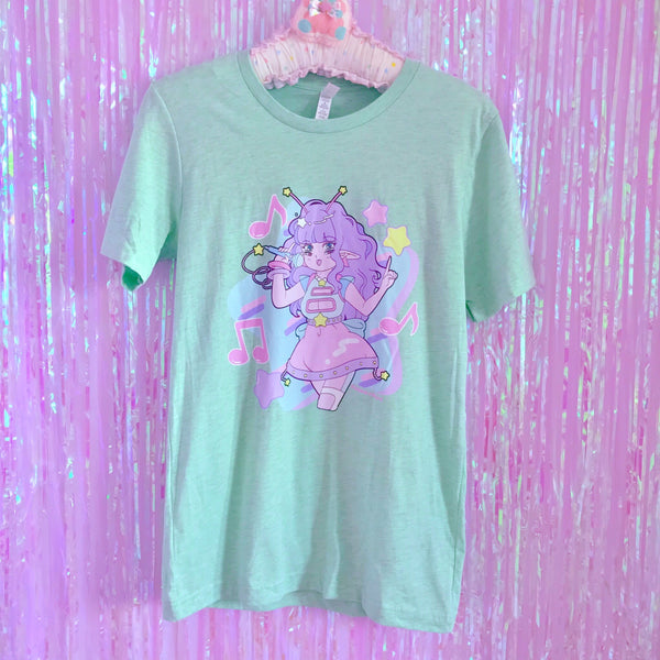 Space Pop Star Lii Lii - Unisex T-Shirt - Heather Mint