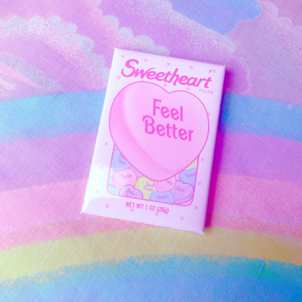 Feel Better Valentine Badge