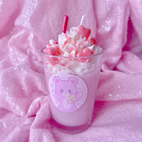 Pink Valentine Drink Candle