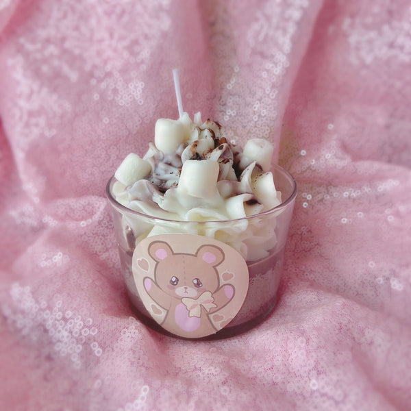 Choco Coffee Pudding Dessert Candle