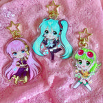 Gumi, Miku And Luka Double-Sided Vocaloid Keychains
