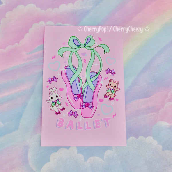 (Last One) Fancy Ballet Shoes Print - 4 x 6