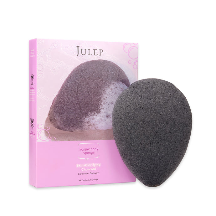 Charcoal Konjac Exfoliating Body Sponge