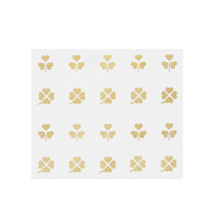 Gold 4-Leaf Clover Nail Decals