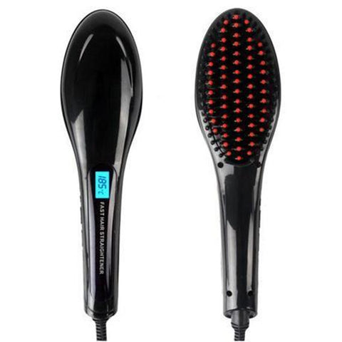 Hair Straightener Brush Combo