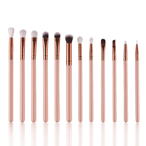 12 Piece Rose Gold Brush Set