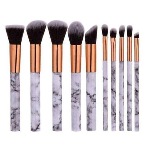 10 Piece Marble Brush Set