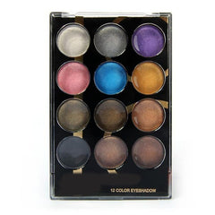 12 Color Shimmer Eyeshadow Palette