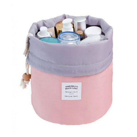 Cosmetic Travel Barrel Bag