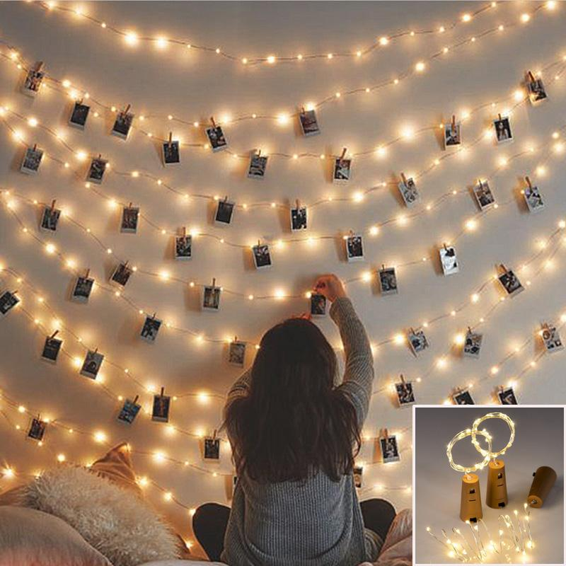 20er LED Cozy Home Foto Lichterkette warmweiss 2m