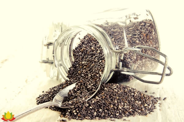 chia seeds glass container