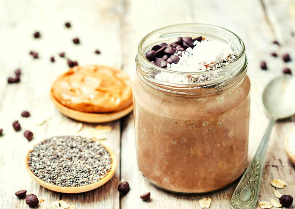 oats with seeds butter coffee