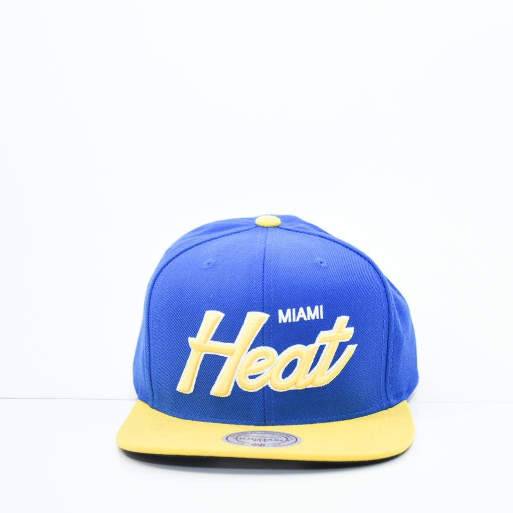 47ac34bcb new era Miami heat snap back blue and yellow 100% Authentic