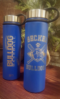 BECKER BULLDOG BASEBALL WATER BOTTLE