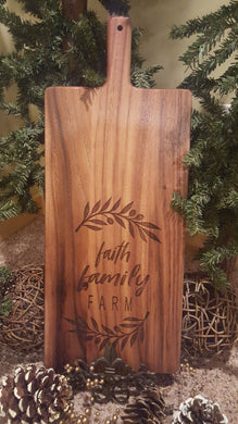 FAITH FAMILY FARM BREADBOARD
